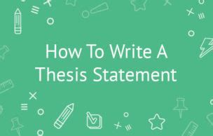 Write a thesis introduction